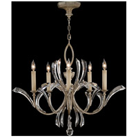 Beveled Arcs 5 Light 36 inch Warm Muted Silver Leaf Chandelier Ceiling Light