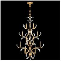 Fine Art Lamps 704040-SF3 Beveled Arcs 16 Light 48 inch Gold Leaf Chandelier Ceiling Light
