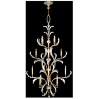 Fine Art Lamps Beveled Arcs 16 Light Chandelier in Warm Muted Silver Leaf 704040ST