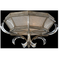 Beveled Arcs 2 Light 26 inch Warm Muted Silver Leaf Flush Mount Ceiling Light
