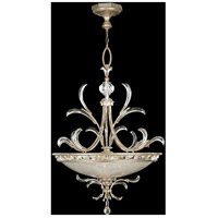 Fine Art Lamps Beveled Arcs 3 Light Pendant in Warm Muted Silver Leaf 704440ST