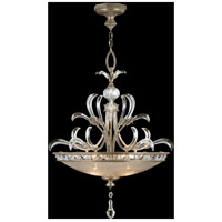 Beveled Arcs 3 Light 32 inch Warm Muted Silver Leaf Pendant Ceiling Light
