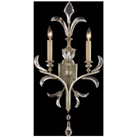 Fine Art Lamps Beveled Arcs 2 Light Sconce in Warm Muted Silver Leaf 704850ST