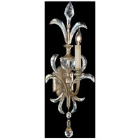 Fine Art Lamps Beveled Arcs 1 Light Sconce in Warm Muted Silver Leaf 704950ST