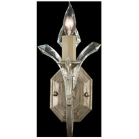 Fine Art Lamps Beveled Arcs 1 Light Sconce in Warm Muted Silver Leaf 705050ST