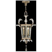 Beveled Arcs 3 Light 22 inch Warm Muted Silver Leaf Lantern Ceiling Light