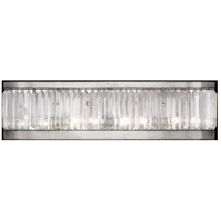 Fine Art Lamps 706550ST Crystal Enchantment 4 Light 26 inch Silver Sconce Wall Light