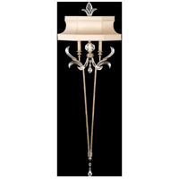 Fine Art Lamps Beveled Arcs 2 Light Sconce in Warm Muted Silver Leaf 706950ST