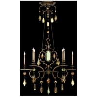 Fine Art Lamps Encased Gems 6 Light Chandelier in Venerable Bronze Patina 708940-1ST