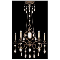 Fine Art Lamps Encased Gems 6 Light Chandelier in Venerable Bronze Patina 708940-3ST