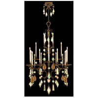 Encased Gems 24 Light 53 inch Bronze Chandelier Ceiling Light