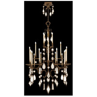 Encased Gems 24 Light 53 inch Venerable Bronze Patina Chandelier Ceiling Light