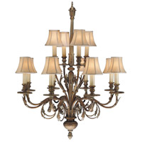 Verona 12 Light 36 inch Antique Veronese Gold Chandelier Ceiling Light