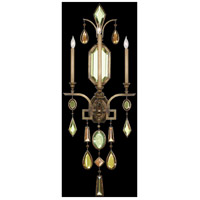 Fine Art Lamps Encased Gems 3 Light Sconce in Venerable Bronze Patina 710450-1ST
