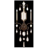 Fine Art Lamps Encased Gems 3 Light Sconce in Venerable Bronze Patina 710450-3ST