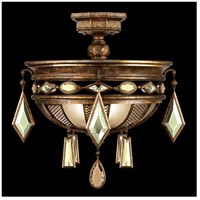Encased Gems 3 Light 21 inch Venerable Bronze Patina Semi-Flush Mount Ceiling Light