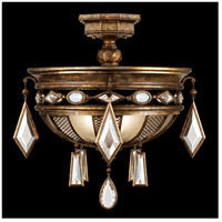 Fine Art Lamps Encased Gems 3 Light Semi-Flush Mount in Venerable Bronze Patina 711440-3ST