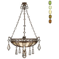 Encased Gems 3 Light 35 inch Venerable Bronze Patina Pendant Ceiling Light