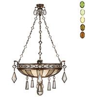 Fine Art Lamps 712240-1ST Encased Gems 3 Light 35 inch Bronze Pendant Ceiling Light