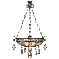 Fine Art Lamps Encased Gems 3 Light Pendant in Venerable Bronze Patina 712240-3ST