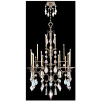 Encased Gems 24 Light 53 inch Silver Chandelier Ceiling Light