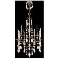 Encased Gems 24 Light 53 inch Vintage Silver Leaf Chandelier Ceiling Light