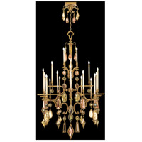 Encased Gems 24 Light 53 inch Variegated Gold Leaf Chandelier Ceiling Light