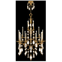 Fine Art Lamps Encased Gems 24 Light Chandelier in Variegated Gold Leaf 714640-3ST