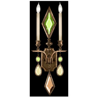 Fine Art Lamps 718150-1ST Encased Gems 2 Light 12 inch Bronze Sconce Wall Light