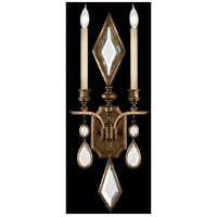 Fine Art Lamps Encased Gems 2 Light Sconce in Venerable Bronze Patina 718150-3ST