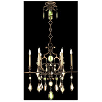 Fine Art Lamps Encased Gems 6 Light Chandelier in Venerable Bronze Patina 718240-1ST