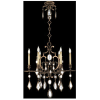 Encased Gems 6 Light 29 inch Venerable Bronze Patina Chandelier Ceiling Light