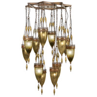 Fine Art Lamps Scheherazade 12 Light Pendant in Aged Dark Bronze 718540-1ST