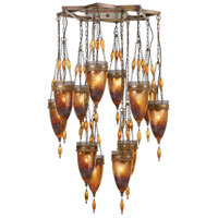 Scheherazade 12 Light 41 inch Aged Dark Bronze Pendant Ceiling Light