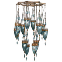 Fine Art Lamps Scheherazade 12 Light Pendant in Aged Dark Bronze 718540-3ST