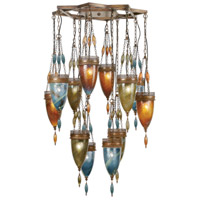 Fine Art Lamps 718540-5ST Scheherazade 12 Light 41 inch Bronze Pendant Ceiling Light