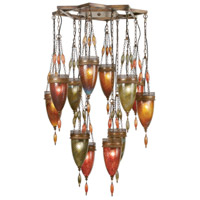 Fine Art Lamps Scheherazade 12 Light Pendant in Aged Dark Bronze 718540-6ST