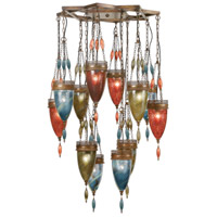 Fine Art Lamps Scheherazade 12 Light Pendant in Aged Dark Bronze 718540-7ST