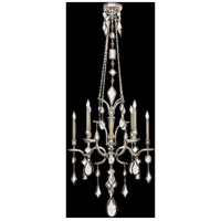 Fine Art Lamps Encased Gems 8 Light Chandelier in Vintage Silver Leaf 725440-3ST
