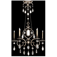 Fine Art Lamps Encased Gems 6 Light Chandelier in Vintage Silver Leaf 725940-3ST