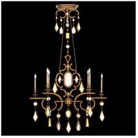 Fine Art Lamps 726040-1ST Encased Gems 6 Light 50 inch Gold Chandelier Ceiling Light