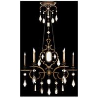 Fine Art Lamps 726040-3ST Encased Gems 6 Light 50 inch Gold Chandelier Ceiling Light