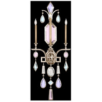 Encased Gems 3 Light 19 inch Vintage Silver Leaf Sconce Wall Light