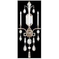 Encased Gems 3 Light 19 inch Silver Wall Sconce Wall Light