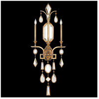 Encased Gems 3 Light 19 inch Gold Wall Sconce Wall Light