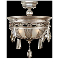 Fine Art Lamps Encased Gems 3 Light Semi-Flush Mount in Vintage Silver Leaf 727140-3ST