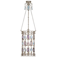 Fine Art Lamps Encased Gems 6 Light Lantern in Vintage Silver Leaf 727440-1ST