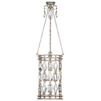 Encased Gems 6 Light 15 inch Vintage Silver Leaf Lantern Ceiling Light