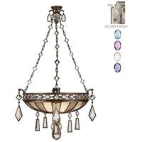 Fine Art Lamps 728540-1ST Encased Gems 3 Light 35 inch Silver Pendant Ceiling Light