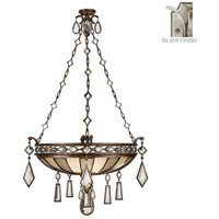 Encased Gems 3 Light 35 inch Vintage Silver Leaf Pendant Ceiling Light